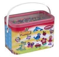 Термомозаика HAMA Набор цветных бусин, 10.000 шт, 50 цветов, MIDI 5+