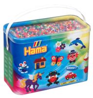Термомозаика HAMA Набор цветных бусин, 30.000 шт, 50 цветов, MIDI 5+