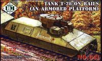 """Танк Т-28 на рельсах (бронеплатформа """"Бепо"""")"""