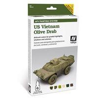 Набор красок AFV US Vietnam olive drab, 6 шт