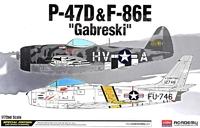 Истребители: P-47D и F-86E Gabreski