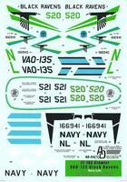 "Декаль Modern US NAVY EA-18G Growler VAQ-135 ""Black Ravens"""