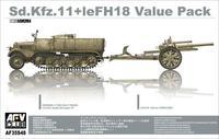 Немецкий тягач Sd.Kfz. 11 с полевой гаубицей LeFH18 Value Pack