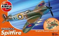 Британский истребитель Spitfire (быстрая сборка без клея)