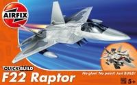 Американский истребитель F22 Raptor (быстрая сборка без клея)