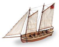Деревянный парусник для склеивания ENDEAVOUR'S LONGBOAT