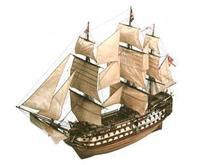 Модель деревянного парусника для склеивания H.M.S. VICTORY