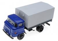 Автомобиль ИФА синяя кабина, серый тент