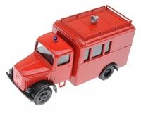Автомобиль Deutz красный, полицай