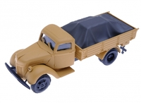 Автомобиль Форд V3000 бежевая кабина, серый груз