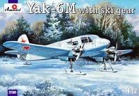Як-6M с лыжным шасси