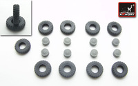 BTR-80 wheels KI-80N type wheels set w/ armored hubs