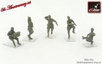"""""""Танцы на привале""""  советские солдаты, ВОВ  (5 фигур)"""