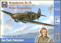 ARK48011 Yakovlev Yak-7B Russian fighter, ace P. Pokryshev