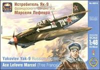 ARK48014 Yakovlev Yak-9 Russian fighter, ace L. Marcel