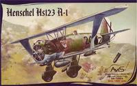 Пластиковая модель самолета Hs123 A-1