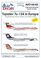 Декаль для Туполев Ту-134А / А3