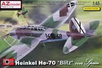 Бомбардировщик Heinkel He-70 over Spain