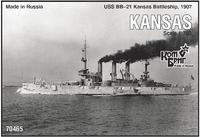 Эскадренный броненосец USS BB-21 Kansas Battleship 1907