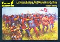 Средневековые европейские пехотинцы и лучники 15-го века