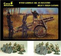 WWII German Infantry Gun SIG-33 with Crew