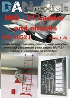 МиГ-21: стремянка летчика, стопорные колодки, антена указателя угла атаки