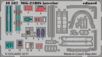 Фототравление 1/48 МиГ-21 Бис интерьер самоклеющийся (рекомендовано для Eduard)