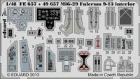 Фототравление 1/48 МиГ-29 Fulcrum 9-13 интерьер самоклеющийся (рекомендовано для GWH)