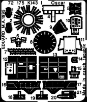 Фототравление 1/72 Kи-43-I Oскар (рекомендовано для Fujimi)