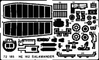 Фототравление 1/72 He-162 Саламандра (рекомендовано для Dragon)