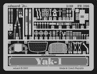 Фототравление 1/48 Яk-1 (рекомендовано для Accurate Miniatures)