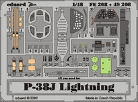 Фототравление 1/48 P-38J Лайтнинг (цветная, рекомендовано для Hasegawa)