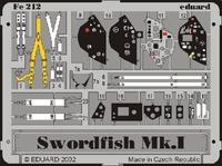 Фототравление 1/48 Свордфиш Mk.I (цветная, рекомендовано для Tamiya)