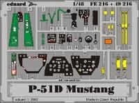 Фототравление 1/48 P-51D Mустанг (цветная, рекомендовано для Tamiya)