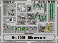 Фототравление 1/48 F-18C Хорнет (цветная, рекомендовано для Hasegawa)