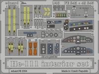 Фототравление 1/48 He-111 интерьер (цветная, рекомендовано для Revell/Monogram)