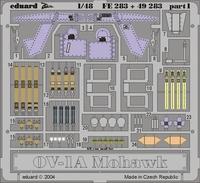 Фототравление 1/48 OV-1A Мохаук (цветная, рекомендовано для Roden)