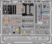 Фототравление 1/48 Лавочкин Лa-5 ФН интерьер (цветная, рекомендовано для Zvezda)
