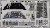 Фототравление 1/48 F-111A интерьер (цветная, рекомендовано для  HobbyBoss)