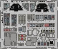 Фототравление 1/48 Mirage 2000N интерьер, (рекомендовано для Kinetic Model)