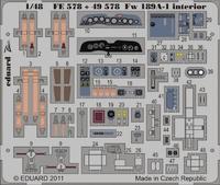 Фототравление 1/48 Fw 189A-1 интерьер (рекомендовано для GREAT WALL HOBBY)