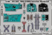 Фототравление 1/48 МиГ-21бис интерьер (рекомендовано для Эдуарда)