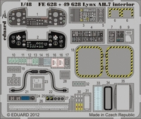 Фототравление 1/48 Линкс AH.7 интерьер (цветная, рекомендовано для Airfix)