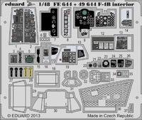 Фототравление 1/48 F-4B Phantom интерьер самоклеющийся (рекомендовано для Academy)