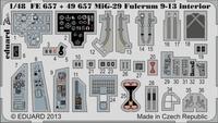 Фототравление 1/48 Mиг-29 9-13 интерьер (цветная, рекомендовано для Great Wall Hobby kit)