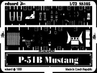 Фототравление 1/72 P-51B Мустанг (рекомендовано для Revell)