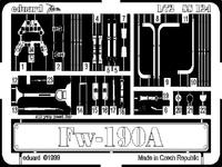 Фототравление 1/72 Fw-190A (рекомендовано для Revell)