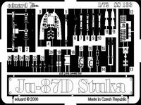 Фототравление 1/72 Ju-87D/G Штука (рекомендовано для Italeri)