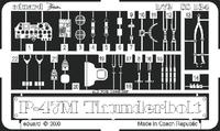 Фототравление 1/72 P-47M Тандерболт (рекомендовано для Revell)