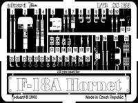 Фототравление 1/72 F-18A Хорнет (рекомендовано для Italeri)